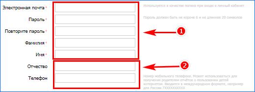 Заполнить информацию для браузера