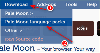 Download language packs