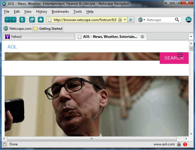 Интерфейс Netscape Navigator