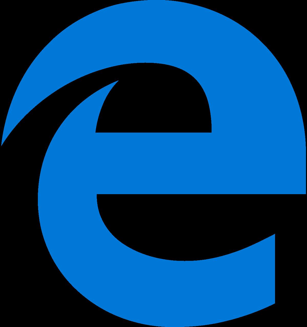 Microsoft Edge логотип Браузеры