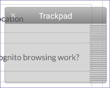 Трэкпад Puffin Web Browser