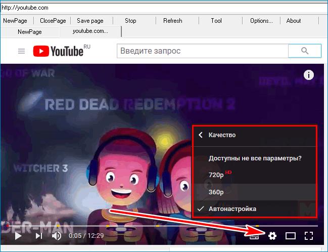 Видео lite Browser