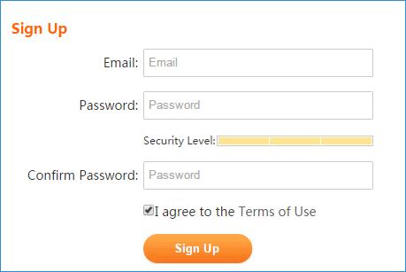 Ввод почты и пароля US Browser