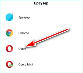 Выбор Opera