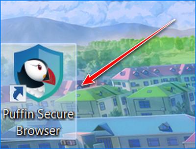 Запускаем браузер Puffin