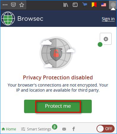 Активация Browsec в firefox