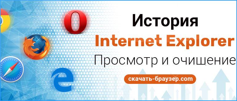История в Internet Explorer