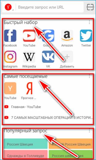 Экспресс панель CM Browser