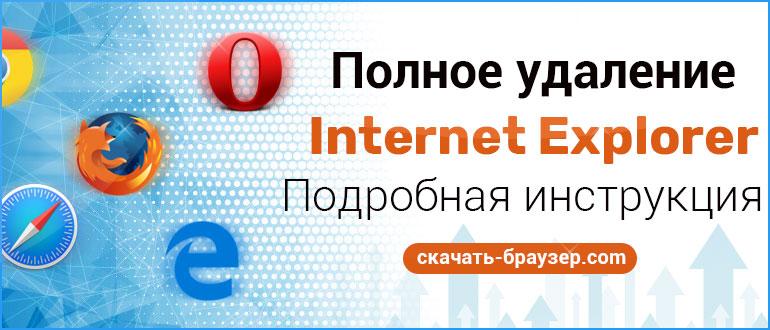 Как удалить Internet Explorer в системах Windows XP 7 8 10