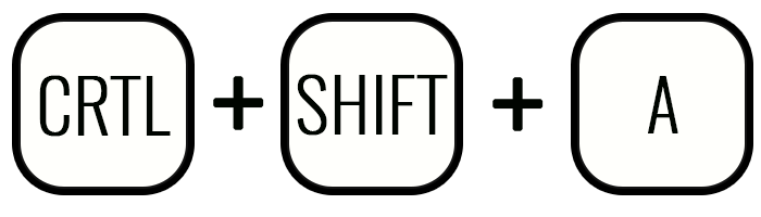 Клавиши Crtl+Shift+A