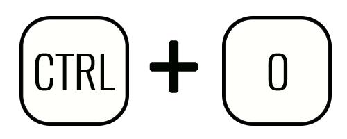 Клавиши Ctrl+O