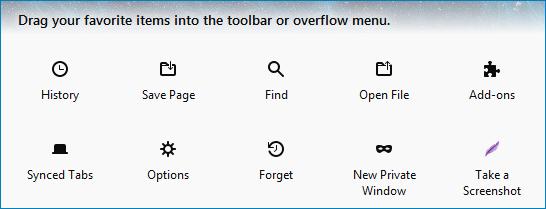 Настраиваемое меню инструментов Firefox