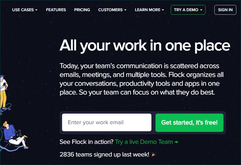 Официальный сайт Flock