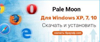 Pale Moon для Windows XP 7 10 — скачать бесплатно на русском языке