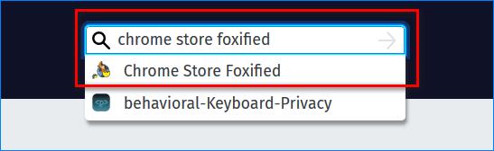 Поиск плагина Chrome Store Foxified