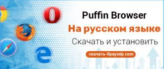 Puffin скачать Пуффин браузер бесплатно