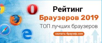 Рейтинг популярных Браузеров 2019