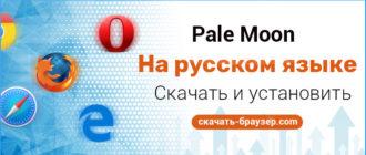 Скачать браузер Pale Moon бесплатно на русском языке