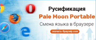 Скачать Pale Moon Portable на русском языке