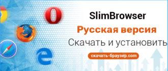 SlimBrowser скачать бесплатный браузер