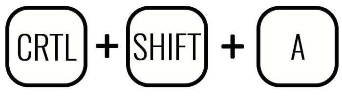 Сочетание клавиш Ctrl—Shift и A