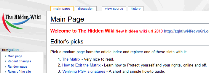 Википедия Онион Tor