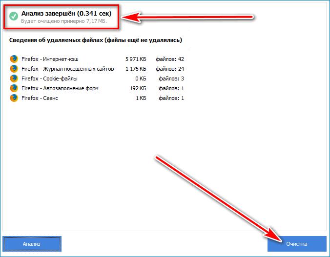 Завершение анализа Mozilla Firefox