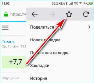 Звездочка Mozilla Firefox
